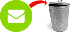 Bad email practices send emails to the trash
